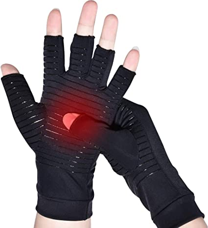 Highest Infused Copper Content Arthritis Copper Compression Gloves Ease Muscle Tension Comfortable Fit for Men and Women Relieve Carpal Tunnel Aches Alleviate Rheumatoid Pains L
