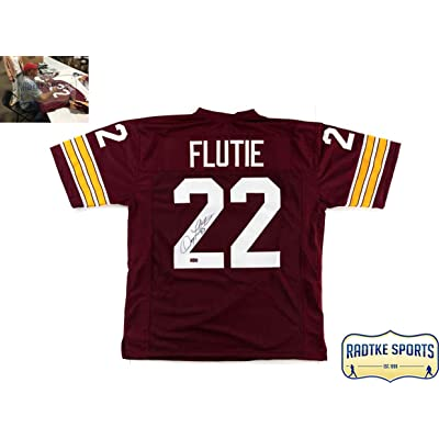 uk availability f2cfc a3d7e Doug Flutie Autographed/Signed Boston College Eagles Custom ...