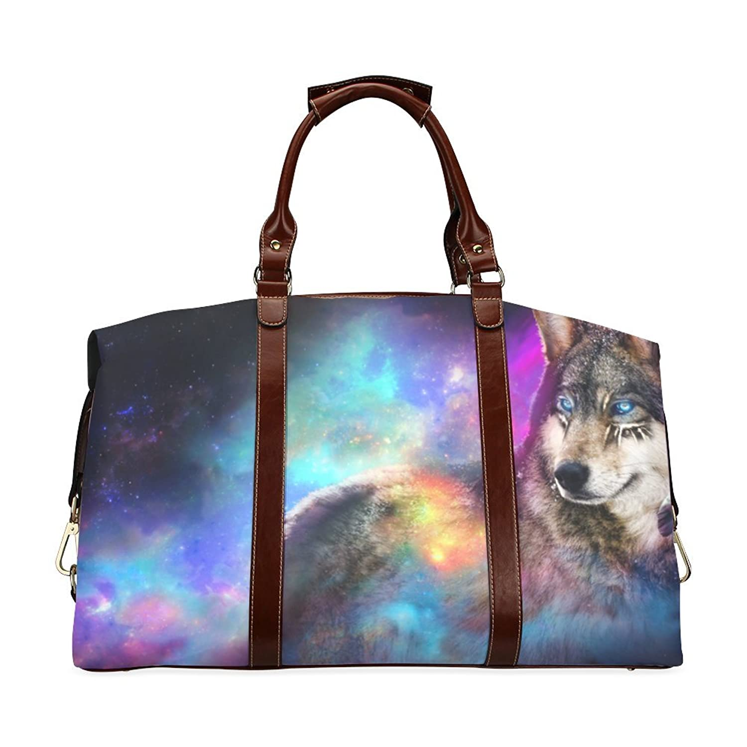Cool Wolf Custom Waterproof Fabric Two-sided Printing Flight Bag