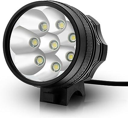 KINGTOP 12000LM 8X CREE XM-L T6 LED Luz Delantera para Bicicleta ...