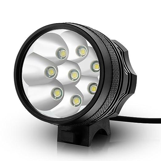52 opinioni per Kingtop 12000 Lumen 8x CREE XM-L T6 LED Testa Luce Faro per Bici Bicicletta