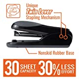 Max Flat-Clinch Black Standard Stapler with 30