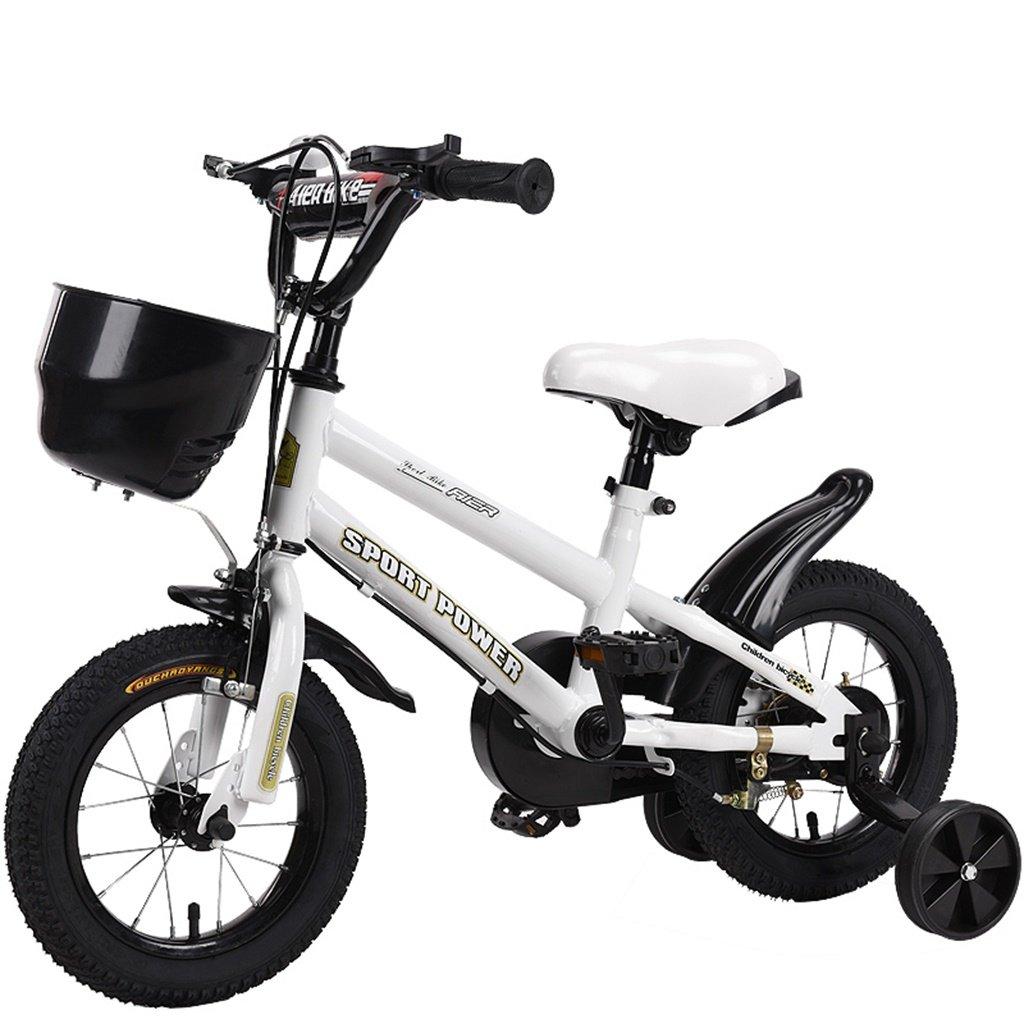 美しい 家チャイルドフォールド自転車3-6-8歳のベビーベビーカー12インチ14インチ16インチ18インチバイク (色 : 白, サイズ さいず : 12Inch) B07CXYQV62 12Inch|白 白 12Inch