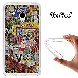 BeCool® - Funda Gel Flexible Meizu MX3 BeCool Viejos Periódicos Rotos Carcasa Case Silicona TPU Suave