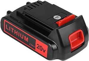 KINGTIANLE 2.5Ah 20V Max Lithium Battery Replacement for Black and Decker 20V Lithium Battery LED Indicator LBXR20 LBXR20-OPE LB20 LBX20 LBX4020 LB2X4020 Cordless Tools Batteries