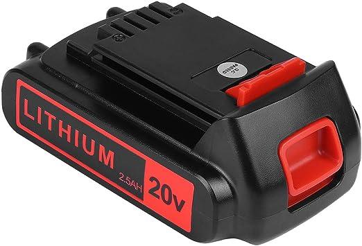 20V 2.5Ah for Black and Decker Lithium-ion 20V Battery LCS1620 LBXR20 LB20 LBX20