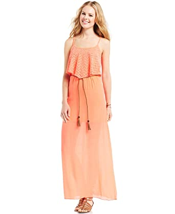 1edc4357a Image Unavailable. Image not available for. Color: Trixxi Juniors' Popover Maxi  Dress