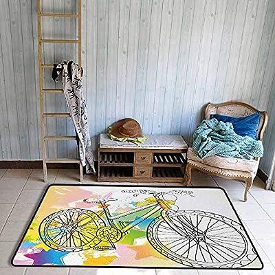 Alfombra para Dormitorio de niña con Dibujo de Manos Dibujadas con ...