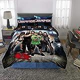 WWE Juego de edredón y sábanas, Multicolor, 5 Piece Full Size, 1