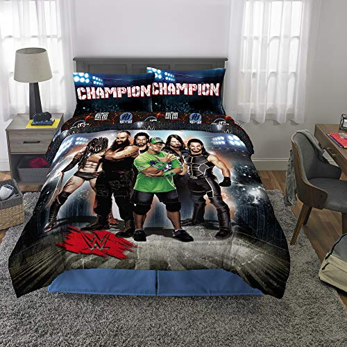 Franco Kids Bedding Super Soft Microfiber Comforter and Sheet Set, 5 Piece Full Size, WWE Armageddon