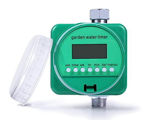 Water Hose Timer, Single Outlet Hose Faucet Timer, Manual Control Outdoor  Waterproof Digital Watering