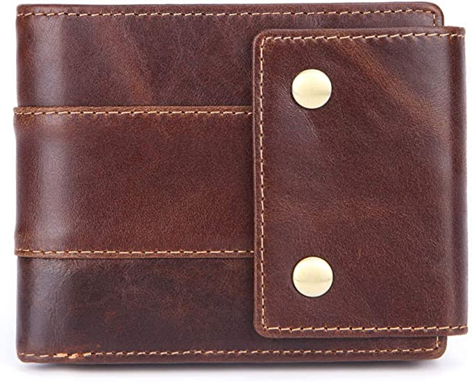 Men Women Wallet ID Credit Card Holder Leather RFID Blocking Zipper Cash Pocket