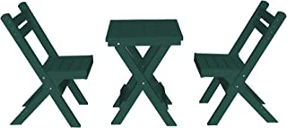 product image for Amish Poly Coronado Square Folding Bistro Set (Turf Green)