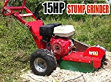 4 Four Stroke, 15HP, Gas Powered Walk Behind Stump Grinder
