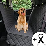 HONEST OUTFITTERS Honest Luxury Quilted Dog Car Seat Cover With Side Flap Pet Backseat cover for Cars, Trucks, and Suv's - WaterProof & NonSlip Diamond Pattern Dog Seat Cover
