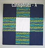 Pick Color - Catnip Blanket Mat Cat Toy 16''x16'' Refillable and Filled w/Organic Catnip, Snuggly Feline Fun, Cat Lover Gift, Birthday, Pet Housewarming, Pet Supplies Cat, COLOR SELECTION TO CHOOSE from