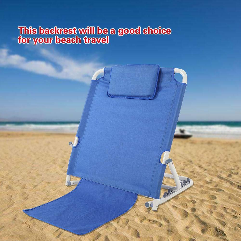 EBTOOLS 6 Compartimentos Respaldo de Cama Plegable port/átil para Playa Travel Lounge 83 x 36,5 x 67,5 cm Esterilla de Playa Acolchada con Respaldo Ajustable