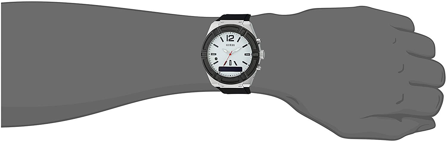 Amazon.com: GUESS Womens CONNECT Smartwatch with Amazon Alexa and Silicone Strap Buckle - iOS and Android Compatible - Silver: Watches