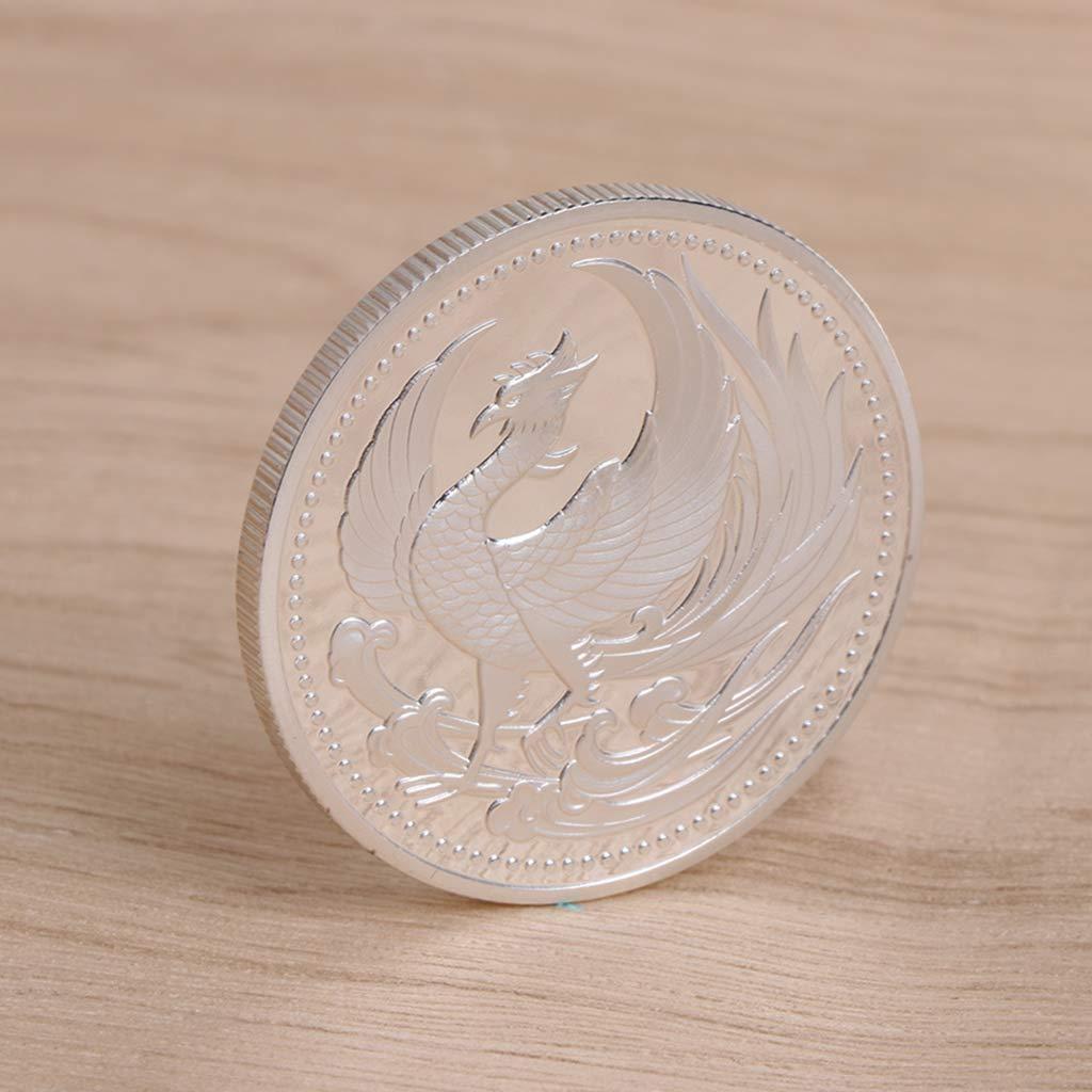 Fugift Commemorative Coin Japan Phoenix Gold Silver Collection Gift Souvenir Crafts Art