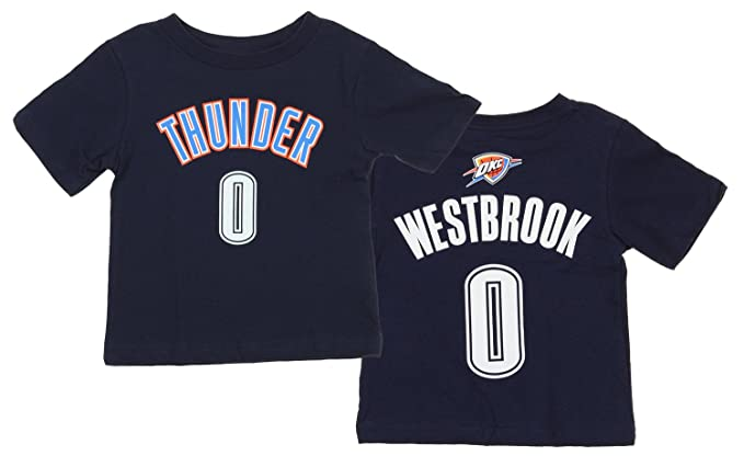 huge discount 5f3a0 09931 Outerstuff Oklahoma City Thunder NBA Infant/Toddlers Russell Westbrook #0  Player Shirt, Navy