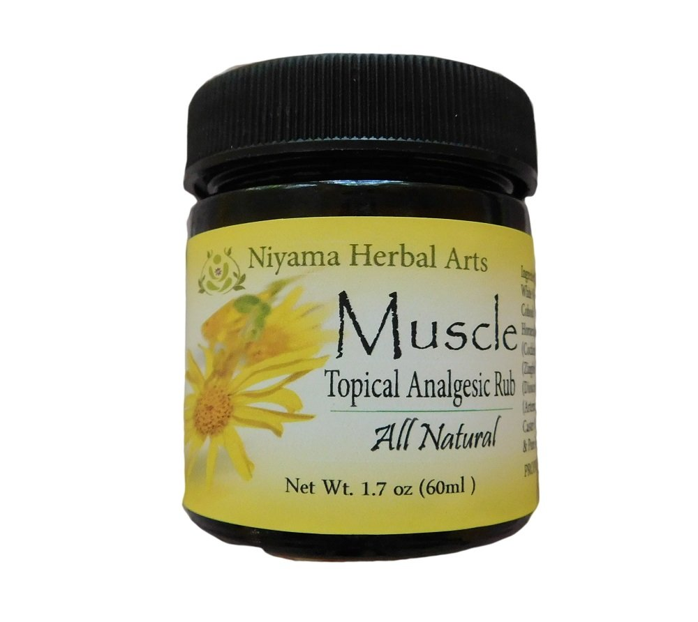 Muscle Rub - Natural Herbal Salve, Headaches, Pain Relief, FAST ACTING, Pure Essential Oils