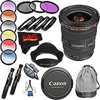 Canon EF 17-40mm f/4L USM Lens (International Model) International Version (No Warranty) Professional Accessory Combo