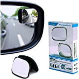 Carbesties Blind Spot Mirror, HD Convex Rear View Mirror Fit for All Universal Vehicles Car, Pack of 2