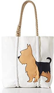 product image for Sea Bags Recycled Sail Cloth Yorkshire Terrier Tote