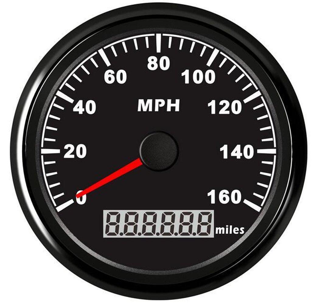 Samdo 85mm ATV UTV Motorcycle Marine Boat GPS Speedometer Gauge Universal Odometer 160MPH
