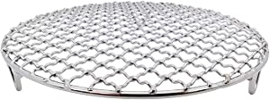 InBlossoms Versatile Round 304 Stainless Steel Cooling Rack Baking,Heat Resistant Rust Proof Sturdy Durable Dia 11""
