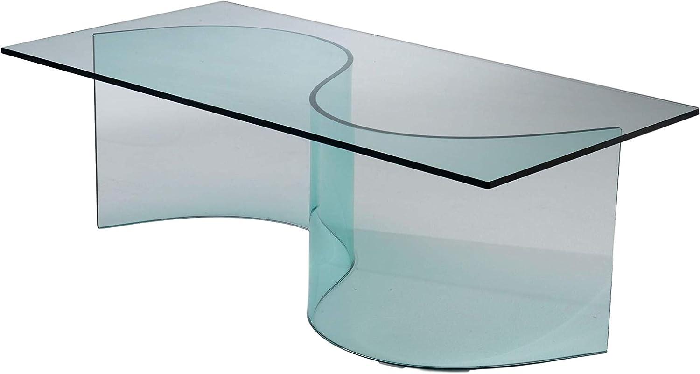 Modelo Snodo. Mesa baja de cristal curvo.: Amazon.es: Hogar