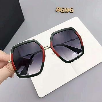 Fashion Trend Sonnenbrille Polygonale Trend Sonnenbrille , Gold / Gold