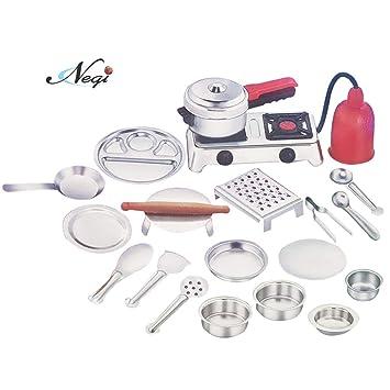 Buy Negi 20 Pieces Stainless Steel Utensils Non Toxic Indian Kitchen