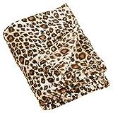 Fennco Styles Cheetah Print Plush Throw Blanket, 50''x60''