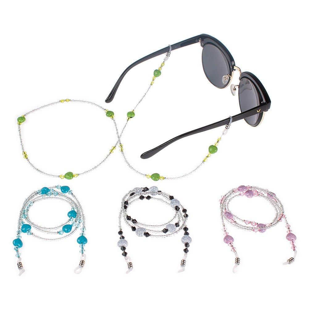 MagiDeal Universal Brillen Ketten Perlen Schnur Multicolor Mode Metall Brillenband//Brillenkette//Brillen Cord//Sonnenbrille kette Hals Lanyard//Brillenhalter Hals Cord Strap