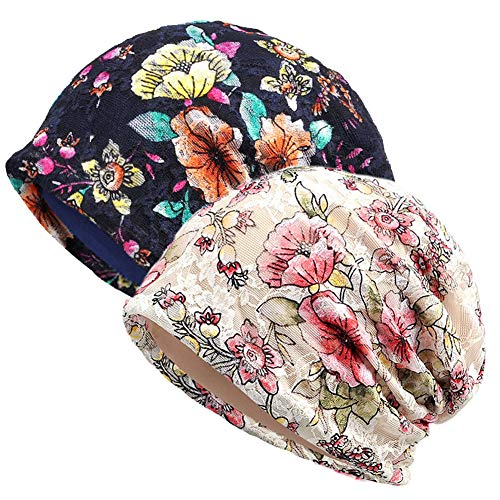 MaxNova Women's Cotton Cancer Hats Chemo Headwear for Patients (Best Hats For Cancer Patients)