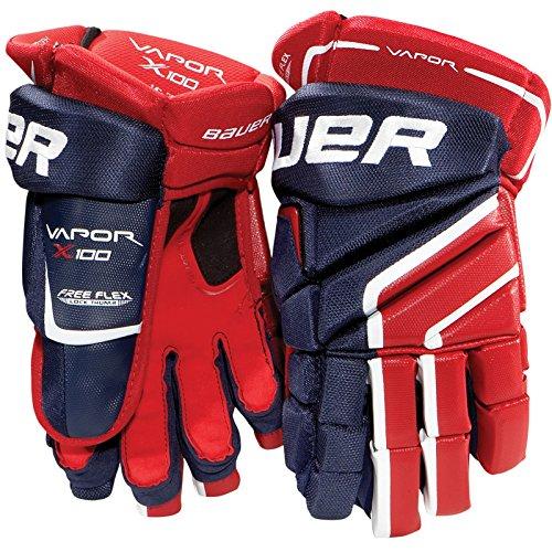 Bauer Vapor X100 Senior Hockey Gloves, 14 Inch, Blue