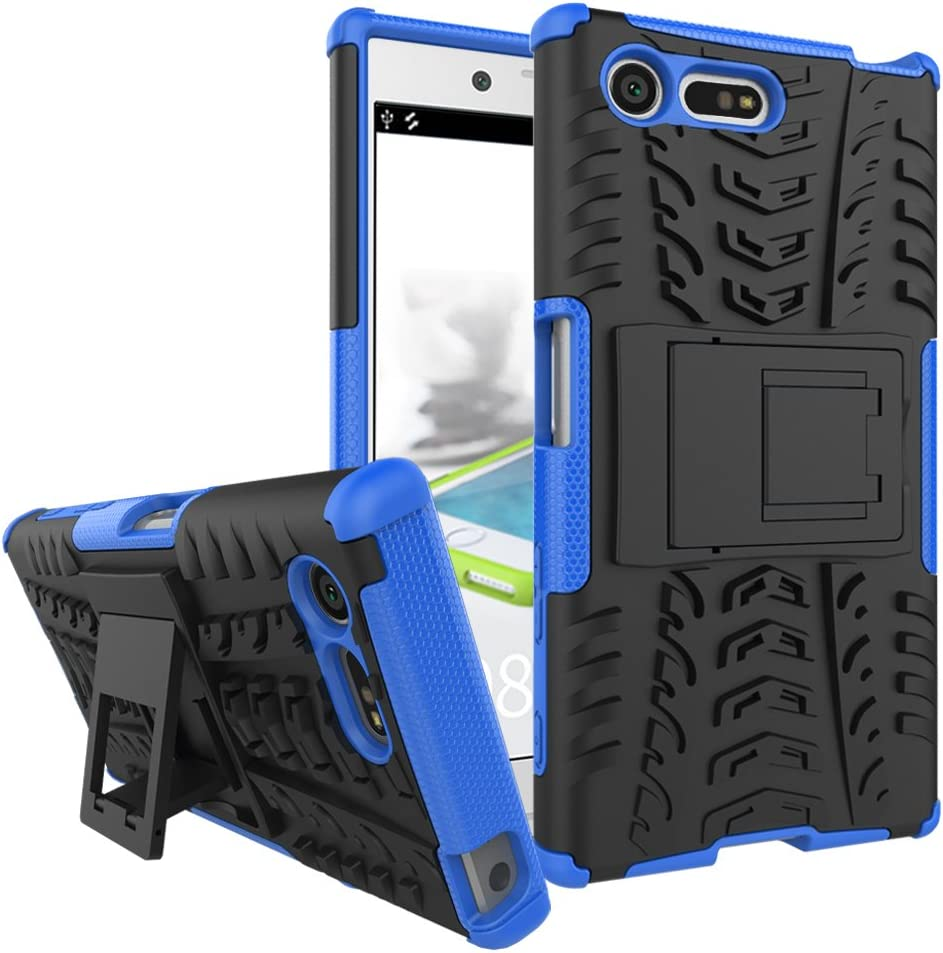 Hyun Orange Tyre Pattern Design Heavy Duty Tough Armor Extreme Protection Case With Kickstand Shock Absorbing Detachable 2 in 1 Case Cover For Sony Xperia X Compact Sony Xperia X Compact Case