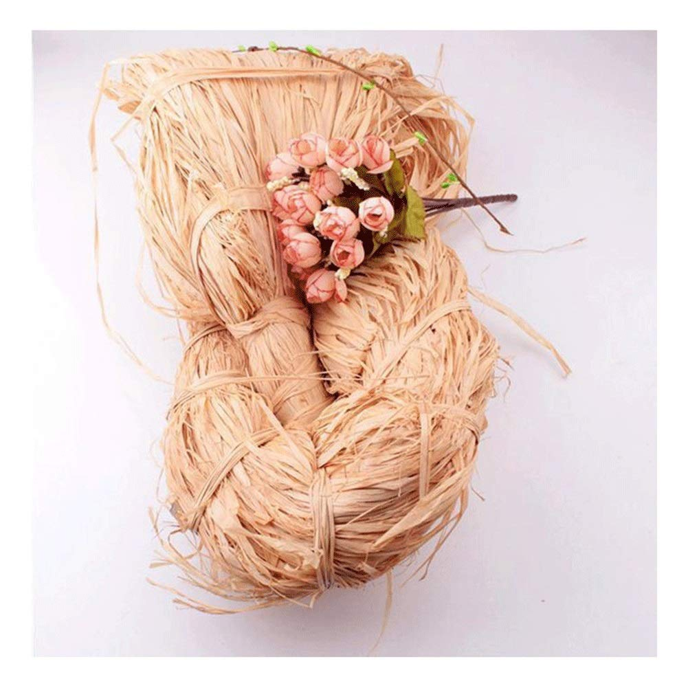 Natural Raffia for Florist Bouquets Decoration Raffia Ribbon Crafts Weaving Gift Wrapping Garden Use (Size : 1000g) by RKRGQ