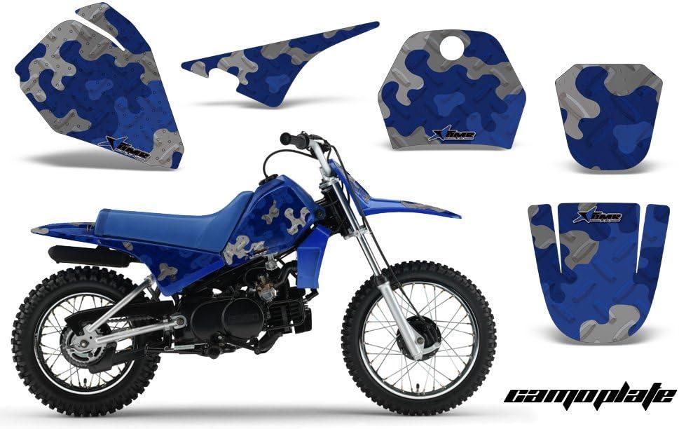 Yamaha PW80 1996-2006 MX Dirt Bike Graphic Kit Sticker Decals PW 80 CAMOPLATE BLUE