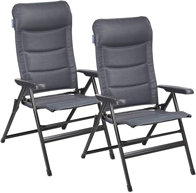 Napoli XL - Silla de camping (reclinable en 7 posiciones, 2 ...