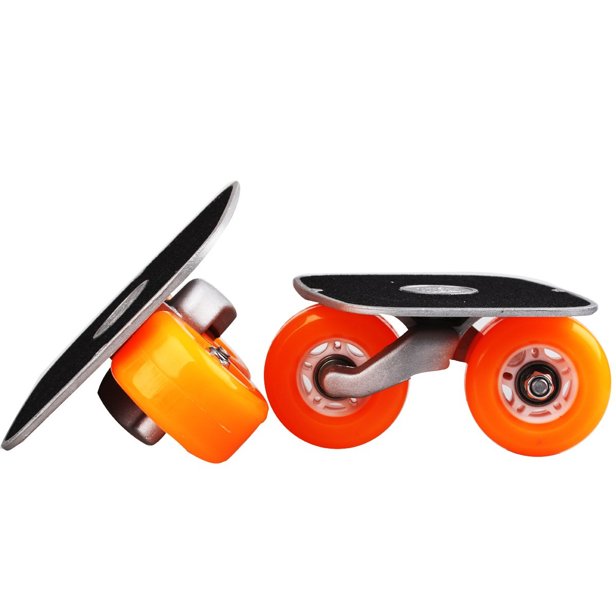 JINCAO Orange Portable Roller Road Drift Skates Plate Anti-Slip Board Aluminum Truck with PU Wheels with ABEC-7 608 Bearings by JINCAO