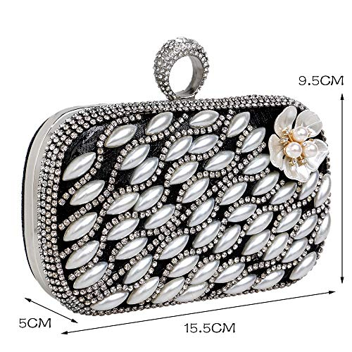 Black Star Bag The Luxury with GROSSARTIG Bag Flower Pearl Evening Party Evening Same 8BxS4q7