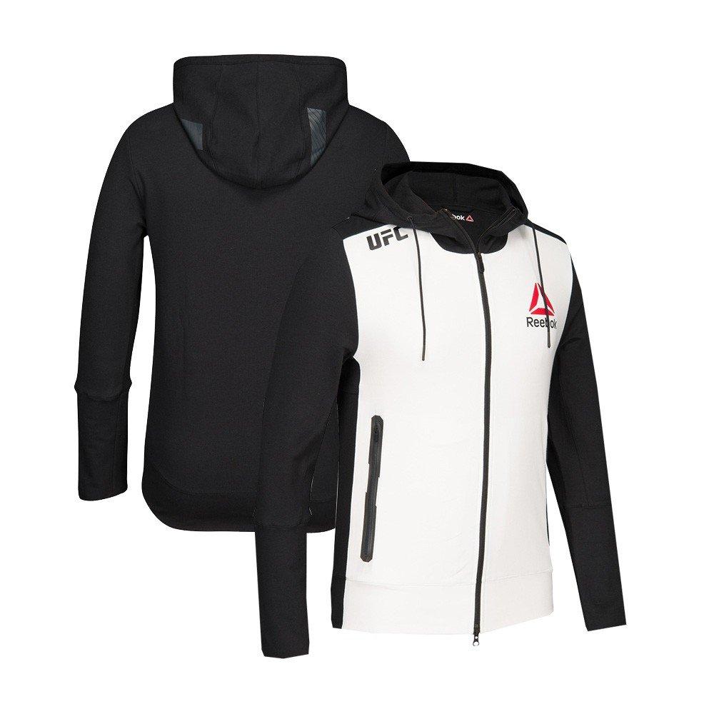 L adidas Reebok Official UFC Fight Kit (Blanc Noir) Sweat à Capuche pour Homme