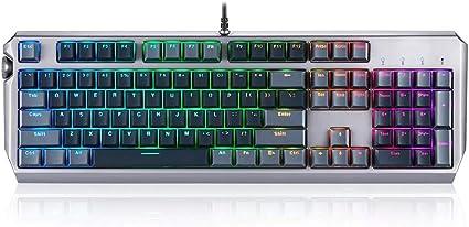 ZIEO Gaming Keyboard mecánica Juegos de PC Teclados, 104Key ...