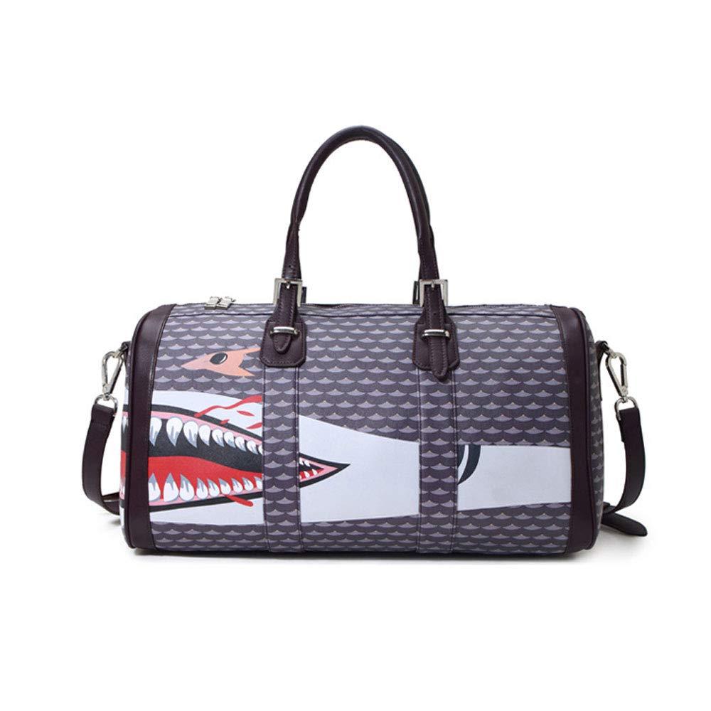 XF Gym Totes Sports Bag Shark Short-Distance Travel Portable Large-Capacity Sports Bag Men and Women Lightweight Diagonal Bag Fitness Bag -48x24x26cm Gym Bags (Color : B, Size : 48x24x26cm)
