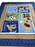 Crazy Cart Cotton Lions Cartoon Pattern Baby Quilt Bed Covers Play mat 43''x51''