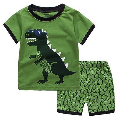 Kevin's Mart 68 Baby Boys Girls Summer Pajamas Sets Tshirts+Shorts Children Cartoon Sleepwear 2-7T