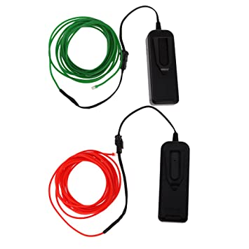 Gazechimp 2 Stück 3M Flexibles Neon LED Licht Glühen EL-Kabel Draht ...