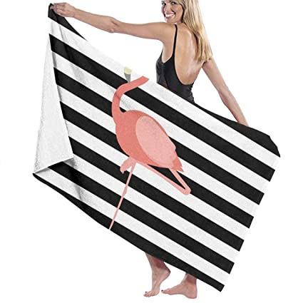 image relating to Printable Towels referred to as : QWED Flamingo Printable Uni Luxurious Beach front